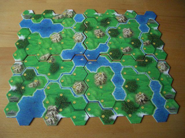 Clans of Caledonia Bild 1 Variables Spielbrett