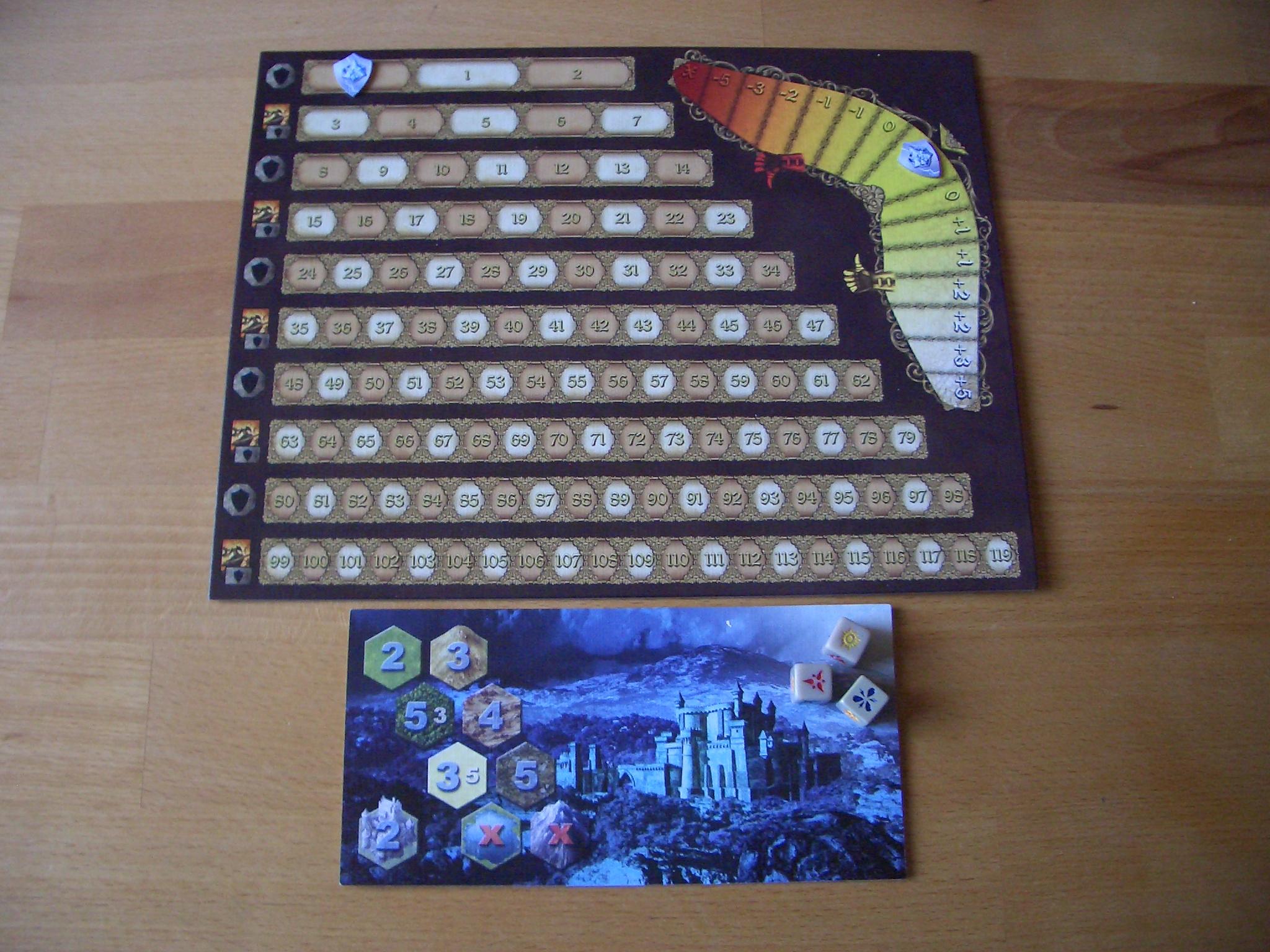 Mage Knight - Das Brettspiel Ruhmleiste und Manaquelle