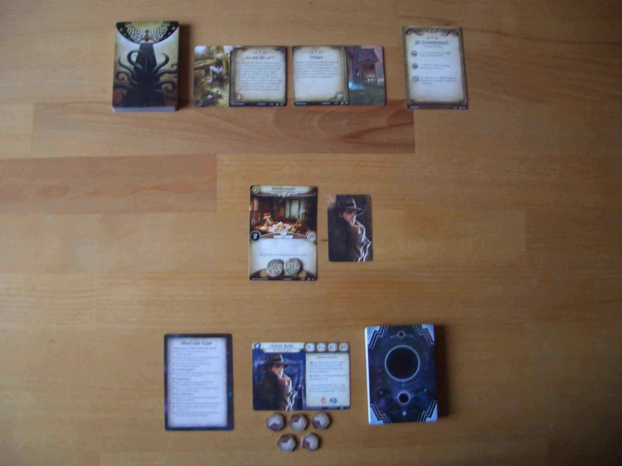 Arkham Horror - Das Kartenspiel Kartenauslage