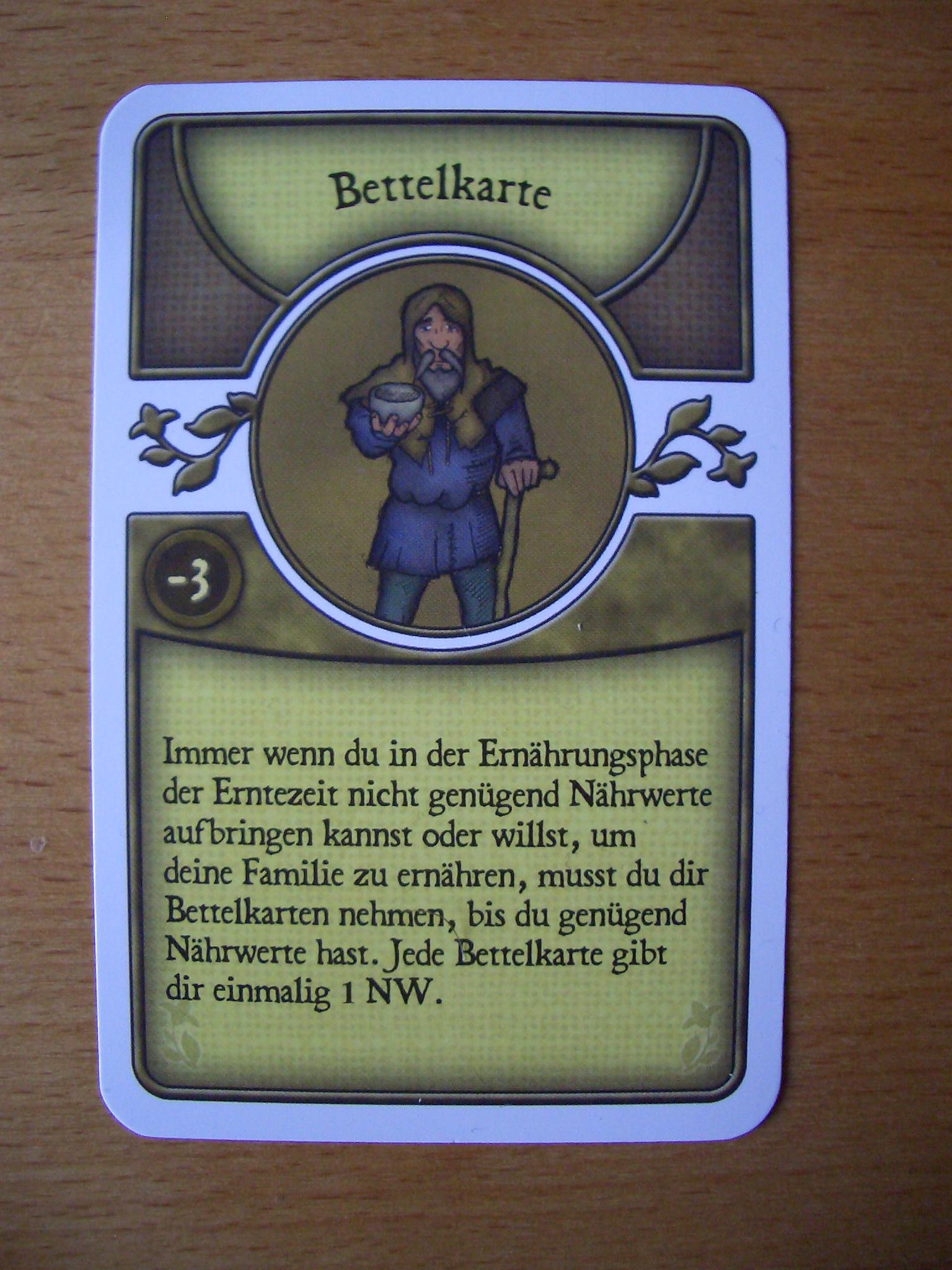 Agricola Bettelkarte