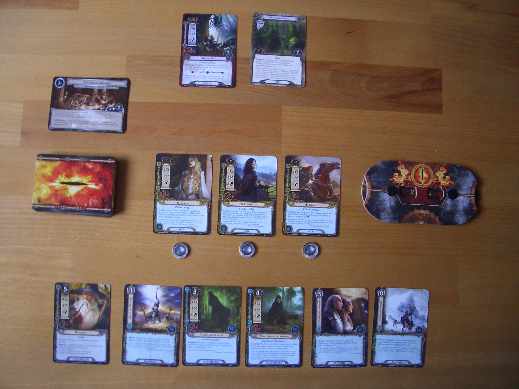 Der Herr der Ringe - Das Kartenspiel Bild 1 Spielbereich