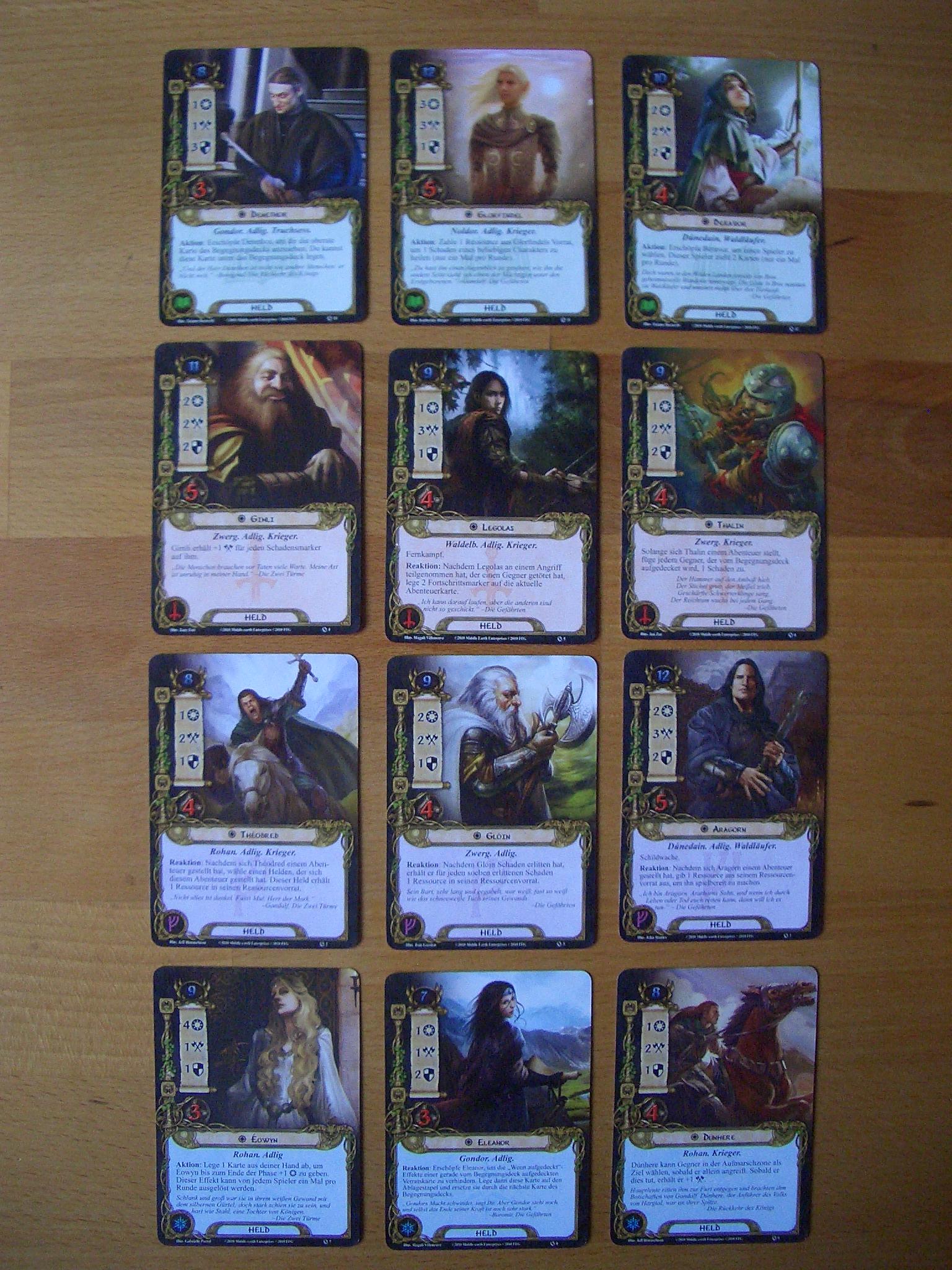 Der Herr der Rnge - Das Kartenspiel Bild 2 Heldenkarten