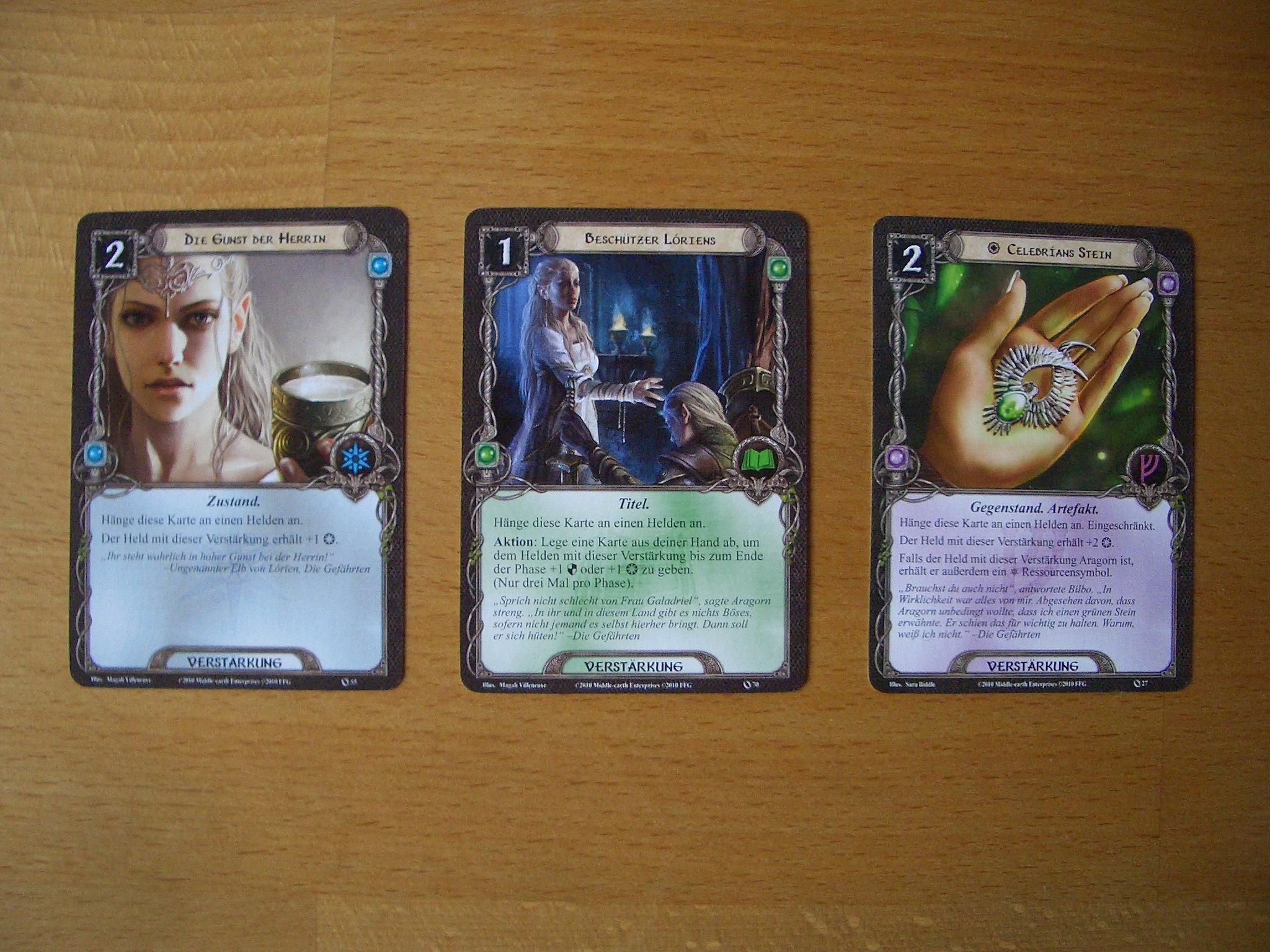 Herr der Rnge - Das Kartenspiel Bild 5 Verstärkungskarten