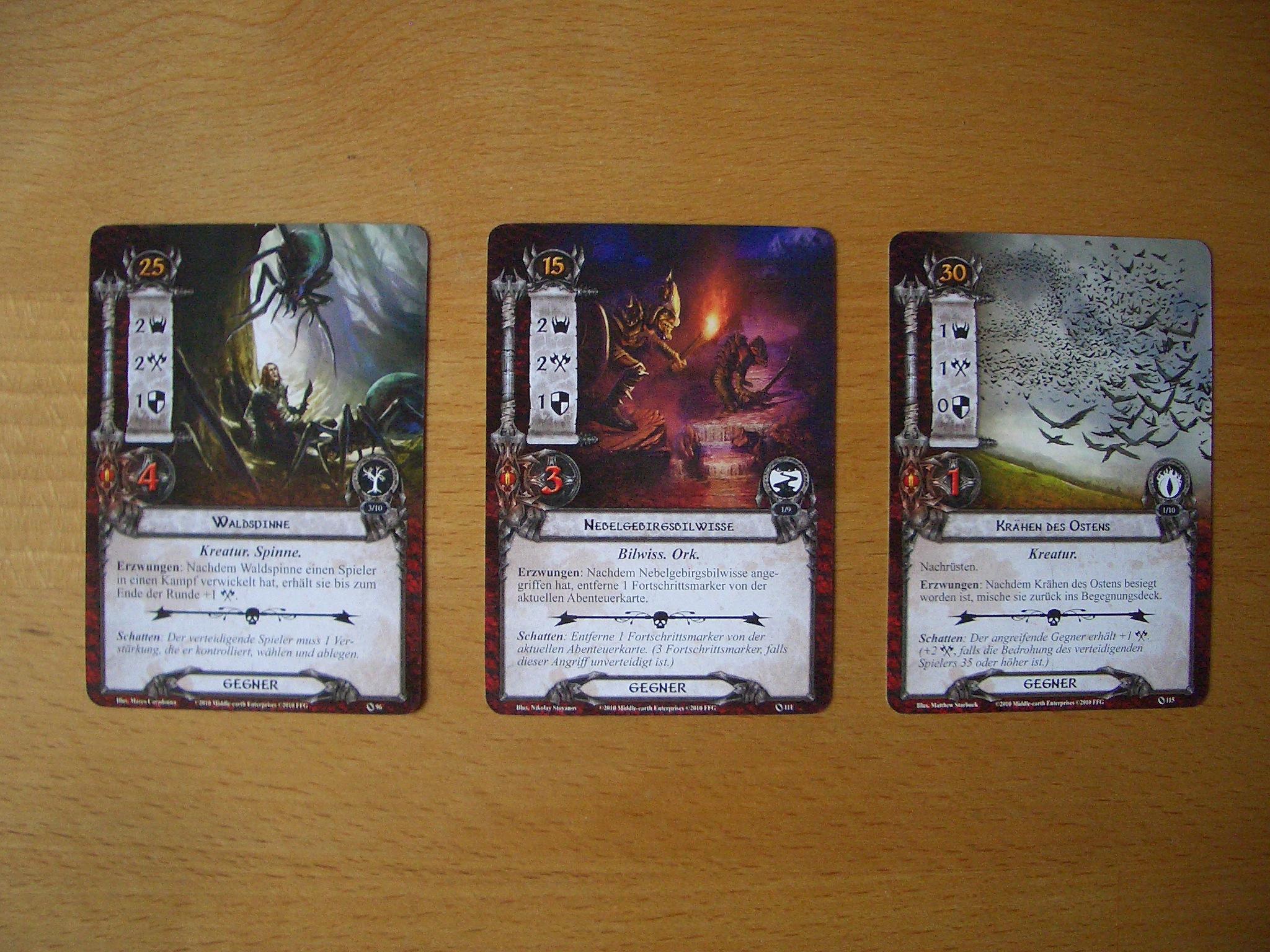 Der Herr der Rnge - Das Kartenspiel Bild 9 Gegnerkarten
