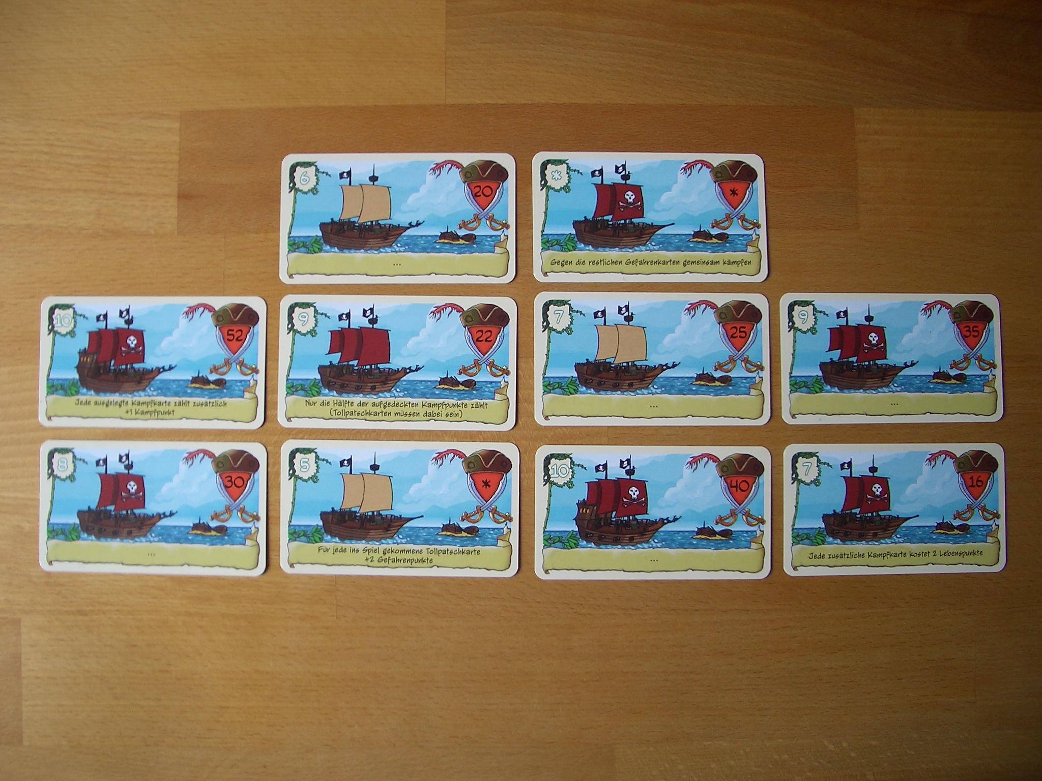 Freitag Piratenkarten