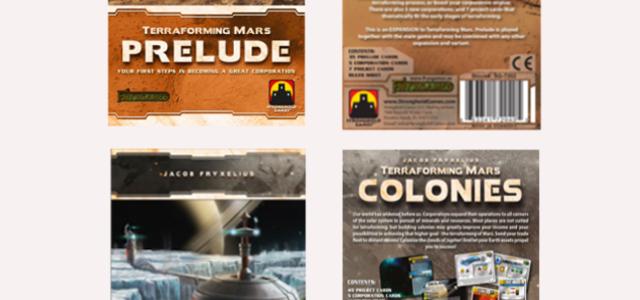 Terraforming Mars Prelude Colonies